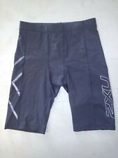 2XU Men's Hyoptik Compression Shorts Steel/Black Size Large Ma3519b (Free Ship)
