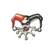 Cool Clown Girl Mask (Iron On) Embroidery Applique Patch Sew Iron Badge