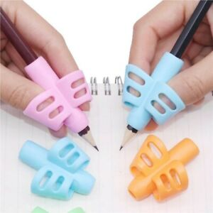 4Pcs Two-finger Grip Silicone Baby Pencil Learn Holder Writing Tools Writing Pen