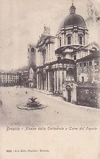 1411) BRESCIA PIAZZA DELLA CATTEDRALE E TORRE DEL POPOLO.