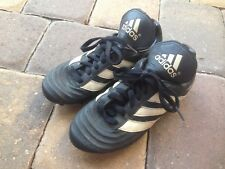 Adidas Youth Boys Soccer Cleats Shoes Size 3.5 Black & White WOW!!!!!