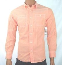 NAUTICA JEANS CO A BIT TRIMMER ORANGE LONG SLEEVED BUTTON DOWN SHIRT MEN NEW S