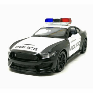 Ford Mustang Shelby GT350 Police Car 1:32 Model Car Metal Diecast Gift Toy Kids