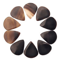 10pcs HandMade Horn Guitar Picks Plectrum for Bass Mandolin Banjo Instrument