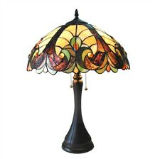 Victorian Design Tiffany Style Stained Cut Glass Table Desk Lamp Beautiful!