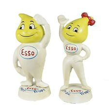ESSO MONEY BOX FIGURES HERR and FRAU TROPF ADVERTISING CAST IRON REPRO OIL DROP