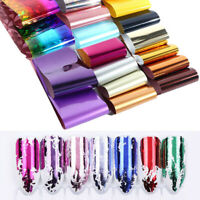 50Pcs Nagel Folien Aufkleber Nail Art Transfer Stickers Holografisch Dekoration