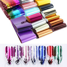 50 Sheets Mix Flower Leopard Holographic Nail Foils Transfer Stickers Decoration
