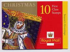 Gb 1999 Christmas King James Cylinder No Dot Booklet Lx17