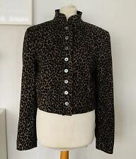 SPORTMAX Jacket Size 14 Leopard Print Black Brown   Smart Casual Top Coat Animal