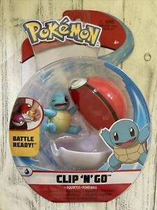 """Damaged Box Pokemon Clip 'n' Go Squirtle & Poke Ball Action Figure Toy 2""""Winking"""