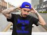 Death Row Records Blue Logo T Shirt Vintage Rap Tee Hip Hop Dr Dre Snoop Black