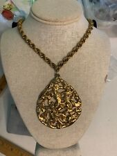 "VINTAGE JEWELRY Necklace Gold Chunky Necklace 18"" 564"