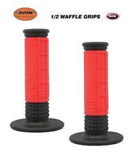 """Avon Grips 1/2 Waffle Motocross Dirtbike Twist Throttle 7/8"""" RED MX SCOOTER"""