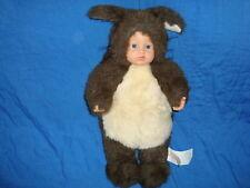 """Anne Geddes Squirrel 16"""" 1998 Doll open Blue eyes"""