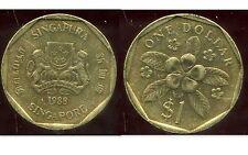 SINGAPOURE 1  dollar 1988   ( bis )