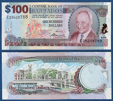 71 B Provided Barbados 100 Dollars 2007 Unc P 2009