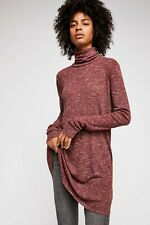 Free People Stonecold Long Top, Berry Red, US XS - UK Small, RRP £98