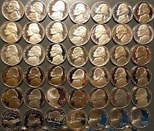 1968-S thru 2018-S Jefferson Nickel Gem Proof 54 Coin Complete Date Set Run