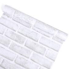 10m White Brick Self Adhesive Wallpaper Contact Paper Livingroom Bedroom Sticker