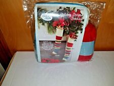 Annie's Hook & Needle Kit Club Holiday Striped Stocking Knit or Crochet Kit