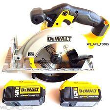 Dewalt DCS391 20V Cordless 6 1/2 Circular Saw, 2) DCB205 5.0 AH Batteries 20 vol