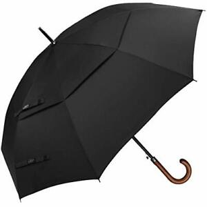 G4Free 52/62 Inch Automatic Open Classic Umbrella Double Canopy Vented Windproof