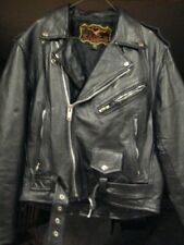 Eagle brand vintage black leather motorcycle biker jacket size 42 Pakistan