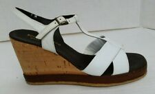 New listing Nos Vintage Boutique Marco Italy Leather Cork Platform Wedge Shoes - Women's 7M