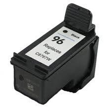 HP 96 Black C8767W Reman Ink Cartridge 28% More Output Deskjet 5740 5940 6520