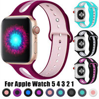 Colorful Sport Breathable Soft Silicone Watch Bands For Apple iWatch 1 2 3 4 5