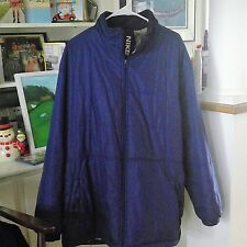 Sz XL Insulated Nike Puffy Winter Coat Cobalt Blue White Logo XL