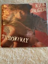"""Mick Jagger 7"""" Vinyl  Throwaway/Peace For The Wicked - 45RPM Record"""