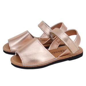 NEW SKEANIE Kids Avarcas Sandals Rose Gold. RRP $69.95