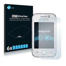 6x Film Protection écran pour Samsung Galaxy Y Young S5360 Protecteur