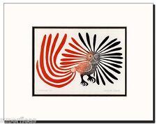 New - ENCHANTED OWL by Inuit artist KENOJUAK ASHEVAK matted art print
