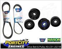 Drive Belts & Pulleys Kit for Holden Commodore VT VX VY VZ V8 LS1 GEN 3 5.7L