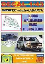 DECAL 1/43 FIAT 131 ABARTH B.WALDEGARD SWEDISH R 1980 3rd (01)