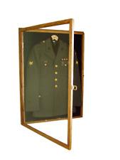 Military Uniform Display Case Memorial Wall Cabinet