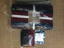 Pottery Barn Kids- Red & Navy- Twin Quilt-Rugby Stripe