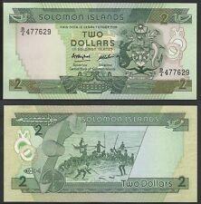 SOLOMON ISLANDS - 2 Dollars ND (1986) Pick 13a  UNC