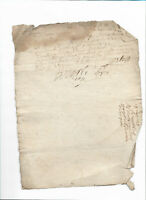 1738 Damaged manuscript document LOUIX XV royal notary signature DAMAGED