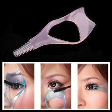 3 in 1 Eyelash Brush Curler Mascara Guard Applicator Tool Stencil Shield Guide#