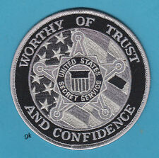 US SECRET SERVICE  WORTHY  OF TRUST & CONFIDENCE SHOULDER PATCH  (Subdued-Gray)