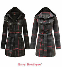 Polyester Checked Casual Coats & Jackets for Women