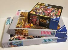 Lot of 3 Ravensburger 1000 & 2000 Piece Puzzles Put Together Once Premium Puzzle