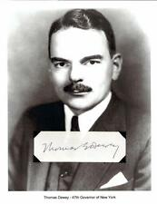 Thomas E Dewey Autograph Governor New York District Attorney Owosso Michigan #1