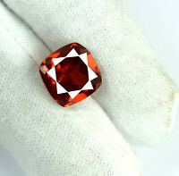 7-9 Ct Orange Spessartine Garnet 100% Natural Cushion Loose Gemstone Certified