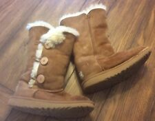 UGGS - Girls Tall Bailey Button Boots - Size 3