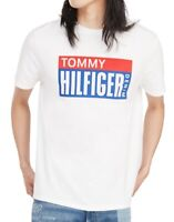 Tommy Hilfiger Mens T-Shirt White Red Blue Size Small S Block Logo Tee $39- 161